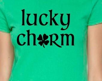 lucky charm, st particks day, st particks shirt, women st particks, st paddys shirt, st patricks tee, st patricks women, green shirt, irish