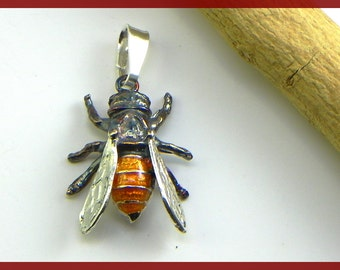Bee Pendant in Sterling silver 925 - made in italy