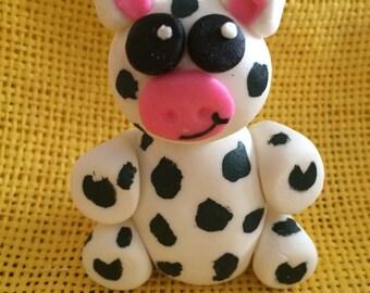 Fondant Cow Figurine