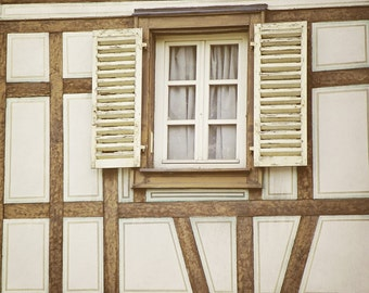 Distressed Shutters, France Photography, Window Photography, Travel Photography, Art Print, Wall Decor