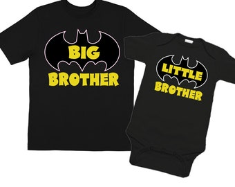 Big Brother Shirts and Little Brother Shirts Black Shirt Sibling Set