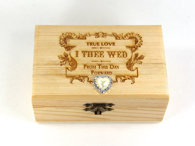 Custom ring box proposal ring box wedding valentines wooden for Custom made ring box