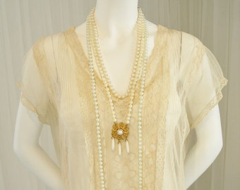 1920 Wedding/Bridal  Flapper/Gatsby Netted Day Dress