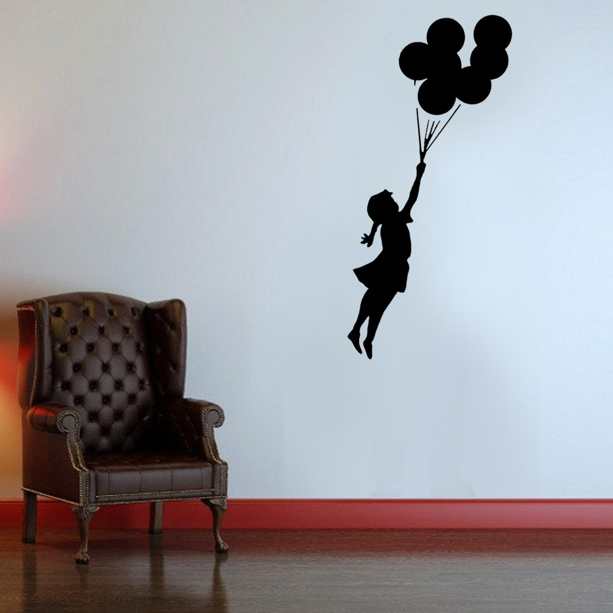 Banksy stencil flying balloon girl girl with balloons banksy details paint this banksy flying balloon girl stencil amipublicfo Image collections