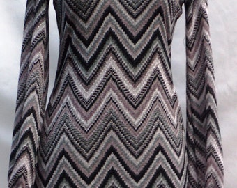 Vintage1970's Nylon Long Sleeve dress
