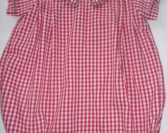 Red gingham bubble for boys