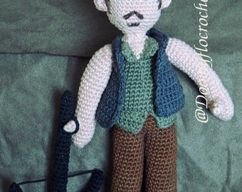 The walking dead Daryl crocheted amigurumi