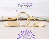 """DIY Mini Embroidery Hoop Frame - Pack of 2 - 1 x1.6""""/4cm and 1 x 2.2""""/5.5cm - Mini Embroidery Hoops Kit - Miniature Hoop - DIY Mini Hoop"""