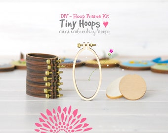 DIY Mini Embroidery Hoop Frame - 34mm x 62mm Oval Embroidery Hoop - Miniature Embroidery Hoops - DIY Tiny Hoop Kit - Mini Oval Hoop Frame