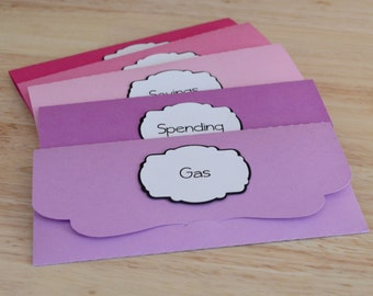 Cash Envelopes, Envelope System, Budget Envelopes and Bank Register to use with Dave Ramsey's System - Choose Your Colors!