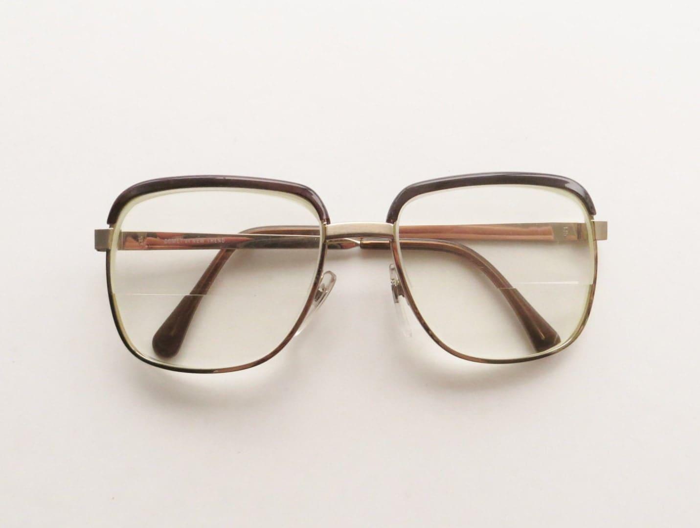 Aviator Eyeglasses Frame : 90s Aviator Eyeglasses Silver Frame with by RuseDreamVintage