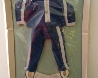 Sasha Doll Clothes, Mint in Box,  Trendon England 1980s, #806, Boy's Track Suit, Underwear and Sneakers