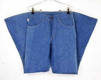 Vintage Deadstock Levi's 663 Denim Bell Bottom Pants W31 1970's