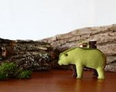 Wandering Woods Bear / Grizzly Bear Soft Sculpture / Forest Spirit Bear