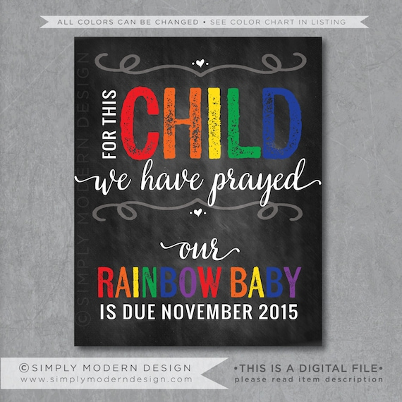 For This Child We Have Prayed Pregnancy Announcement Sign
