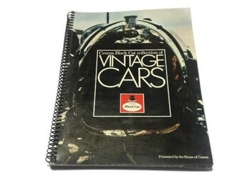 Rare album of vintage cars cigarette cards book Craven Black Cat benz chevrolet ford rolls royce bentley
