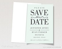 Modern Typographic Wedding Save the Date Magnet