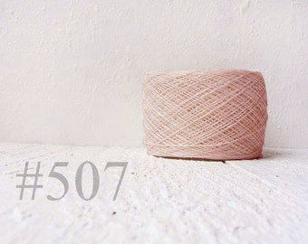 Laceweight Linen yarn - dusty pink # 507