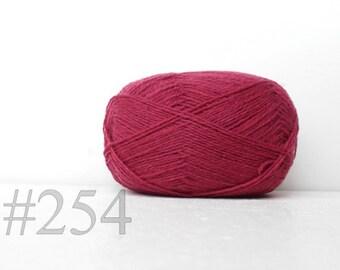 WOOL yarn 100%-Wool for knitting, crochet, - rose pink  #254