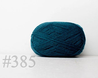 WOOL yarn 100%-knitting yarn - dark turquoise #385