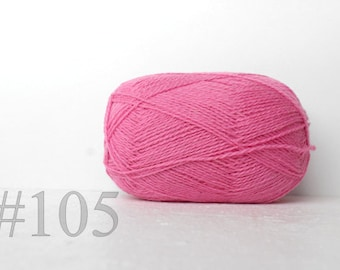 Pink WOOL yarn 100% Wool for knitting, Yarn knitting, yarn crochet - soft pink #105
