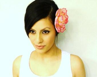 PINK Hair Flower, Women's Hair Accessory, Hair Clip, Pink Hair Accessory