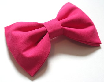 Hot Pink Hair Bow - Hot Pink Bow Tie - Bright Pink Hair Bow - Bright Pink Bow Tie - Pink Bows - Pink Hair Bow - Pink Bow Tie -