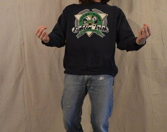 "Baller Status Vintage 90's Notre Dame ""Fighting Irish"" Pullover Crewneck Sweater / Trench / XL"