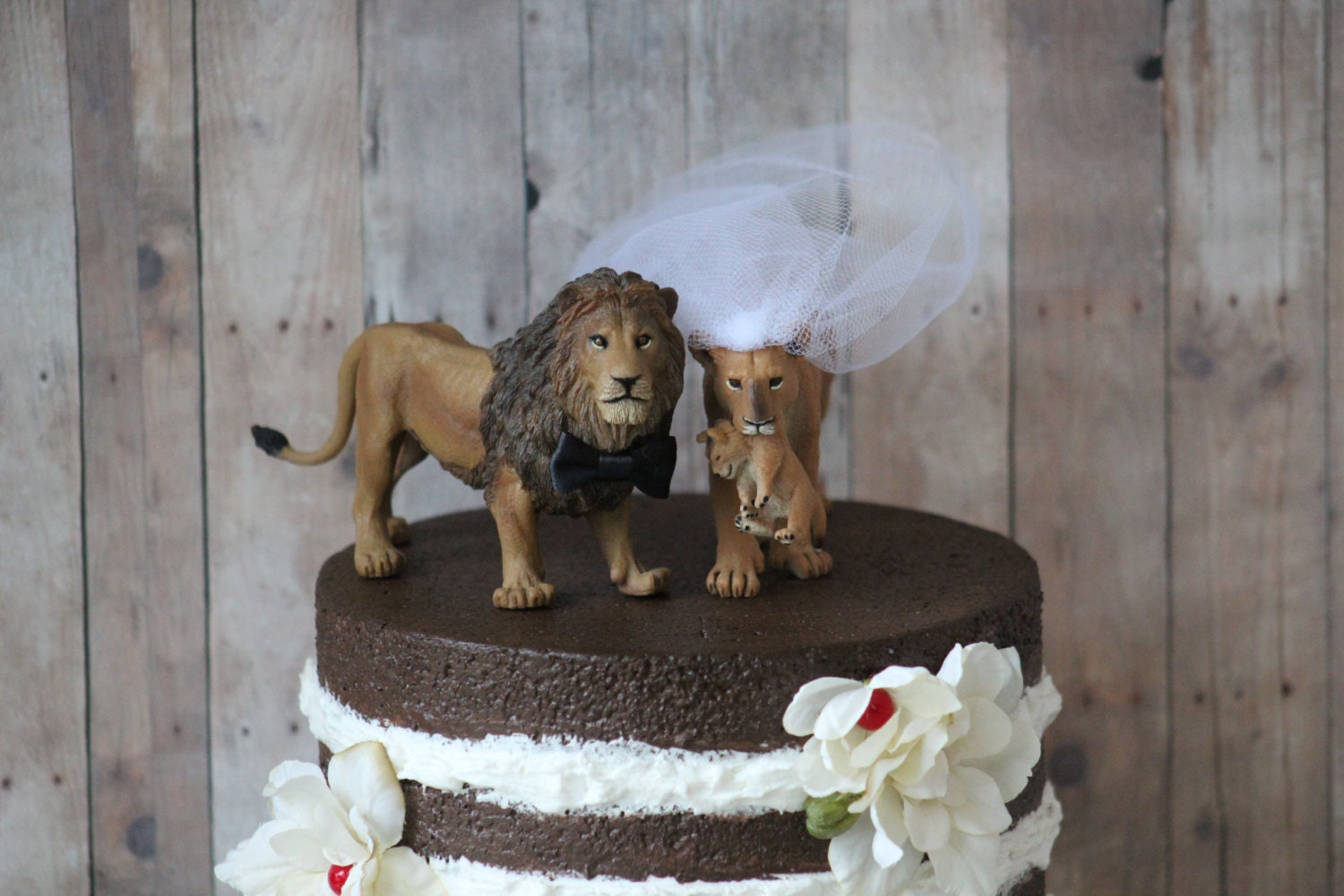 Lion Family Wedding Cake Topper Safari Cake Topper Animal