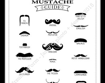 The Gentlemen's Mustache Guide & Name that 'Stache baby shower game