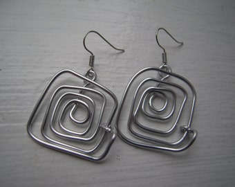 SALE Aluminium wire earrings