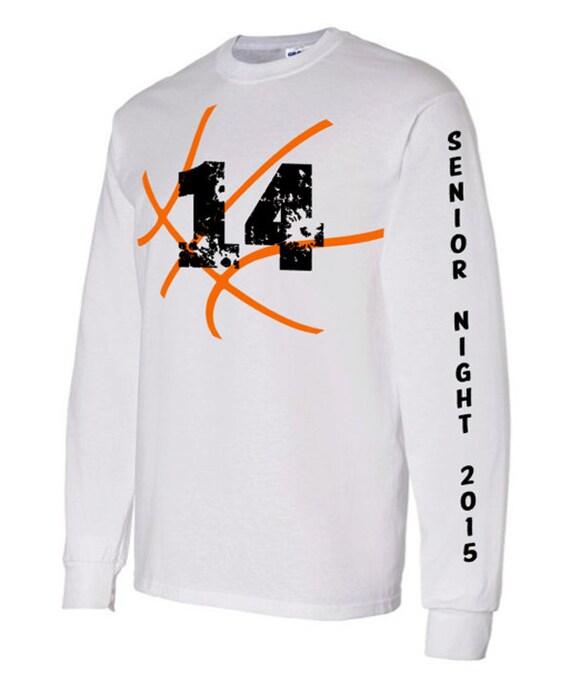 Items similar to senior basketball long sleeve shirt for Custom high school shirts