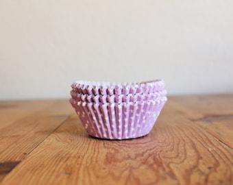 Lavender Purple & White Stars Cupcake Liners- (25)