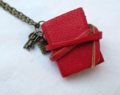 Book jewellery, mini book necklace, miniature book