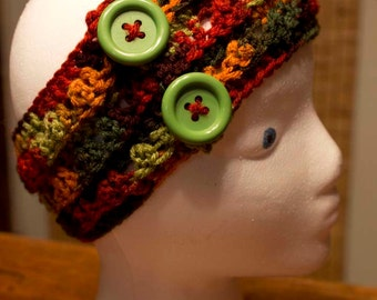 Hand Crocheted Headband/Ear Warmer
