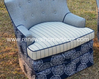 """Custom Upholstered Club Chair - """"Nantucket Collection"""" - In Stockand ON SALE!!"""
