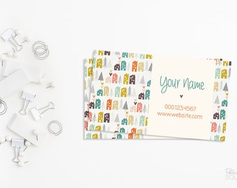 Printable business card design Real estate business card Realtor Real estate agent Feminine