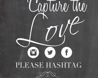 Customized Wedding Hashtag Chalkboard Sign