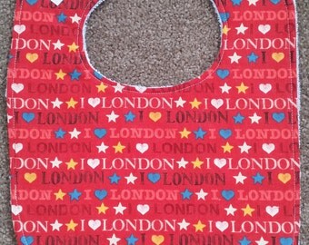 London Text Bib - Red