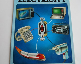 Vintage Children's Book, The How and Why Wonder Book of Electricity