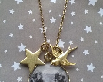 I'll Fly to the Moon and Stars and Back Necklace
