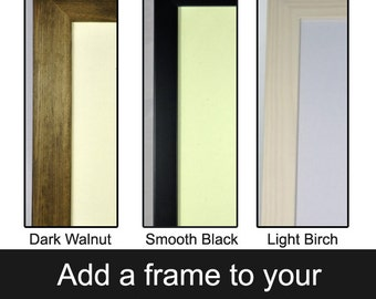"Add a frame to a 7"" x 5"" print - antique picture, framed art print, small framed art, small wooden frame, black frame, plexiglass frame"