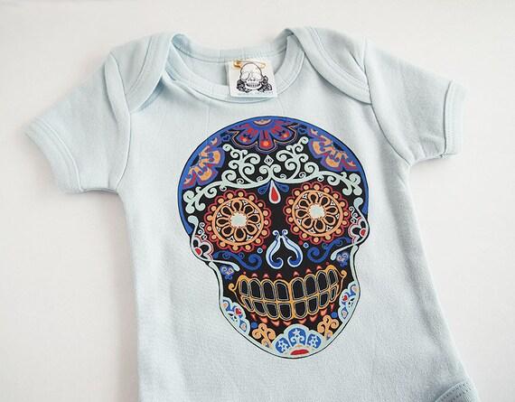 Trendy Baby Boy Clothes Skull Newborn 3 6 9 12 by BonesNelson
