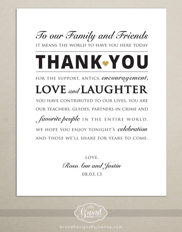 DIGITAL FILE Personalized Wedding Reception Thank You Card – Custom Photo Thank You Cards Wedding