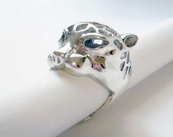 Handmade sterling silver Leopard ring. Grrrr!
