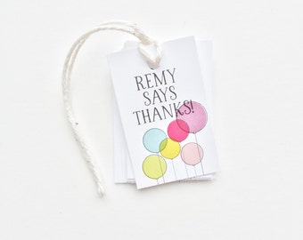Birthday Party Favor Tags. Balloon Gift Tags. Custom Birthday Favors. Personalized Favor Tags. Party Favor Gift Labels. Custom Party Tags