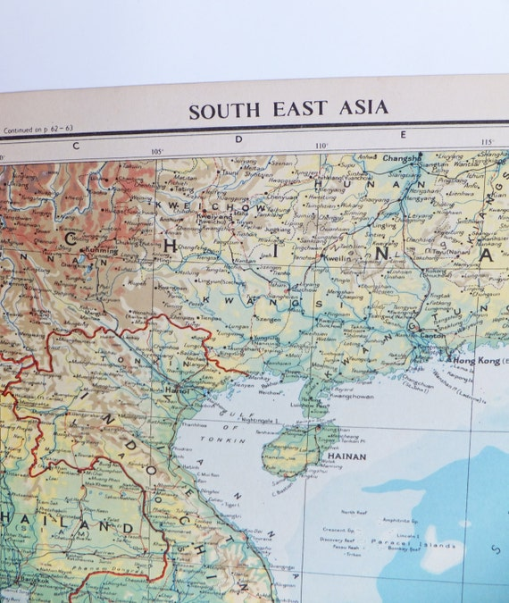 Asian east map