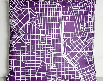 City Map Pillow