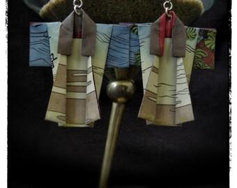Origami Kimono Statement Earrings