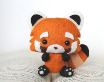 PDF Pattern - Felt Red Panda Nogget Plush